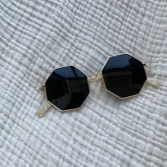 Free People Vintage 70s Round Sunglasses